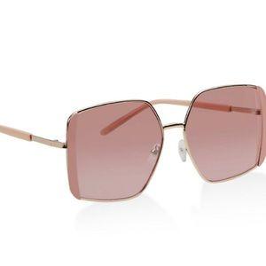 Contrast Trim Square Sunglasses